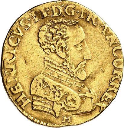 HENRI II (1547-1559). Double Henri d'or du...