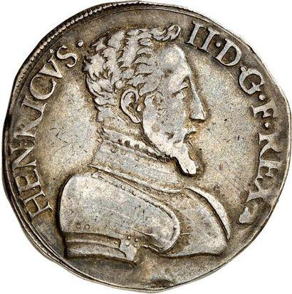 HENRI II (1547-1559). Teston d'argent du...