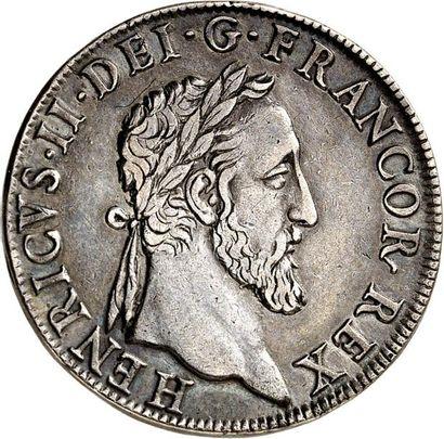 HENRI II (1547-1559). Teston en argent au...