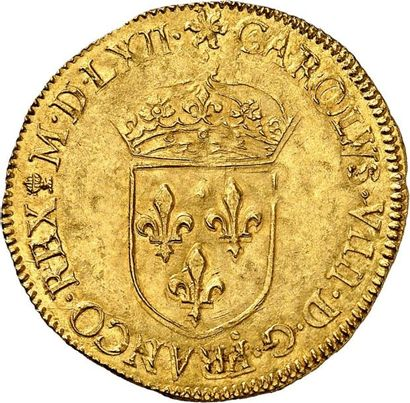 CHARLES IX (1560-1574). Écu d'or au soleil...