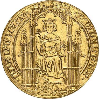 PHILIPPE VI DE VALOIS (1328-1350). Lion d'or....
