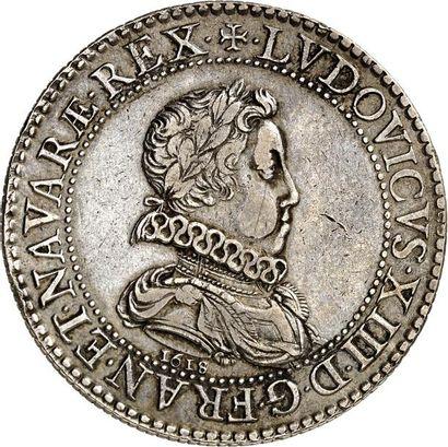 LOUIS XIII (1610-1643). Essai en argent de BRIOT du Franc 1618 PARIS (A). 28,00...