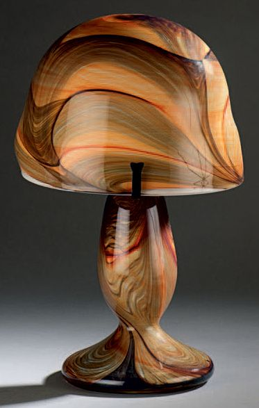 Jean-Claude NOVARO (1943-2014) Lampe de table à piétement en balustre et abatjour...