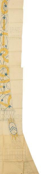 [Tour Eiffel] Projet d'électrification imaginé par André CITROËN et Fernand JACOPOZZI...