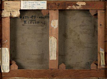 Fernand LÉGER (1881-1955) Nature morte aux vases, 1928 Huile sur toile, signée et...