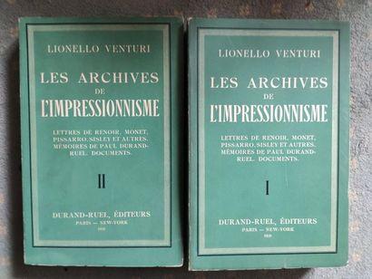 ARCHIVES DURAND - RUEL - Lionello Venturi...