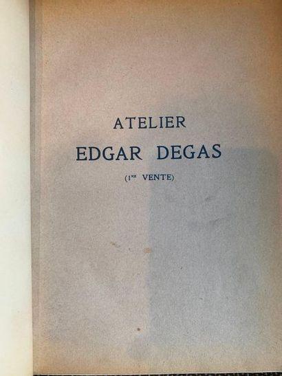 Edgar DEGAS - Atelier Edgar Degas, 4 ventes,...