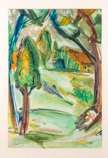 Béla Adalbert CZÓBEL (1883-1976)  Paysage...
