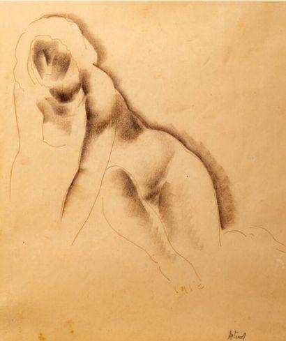 Georges ARTEMOFF (1892-1965)  Femme nue  ...