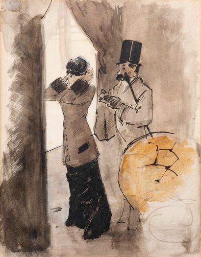 Jean-Louis FORAIN (1852-1931)  Couple (avant...