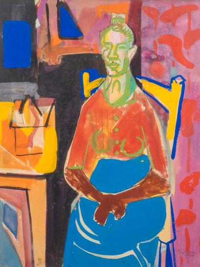 Édouard PIGNON (1905-1993)  Femme assise,...