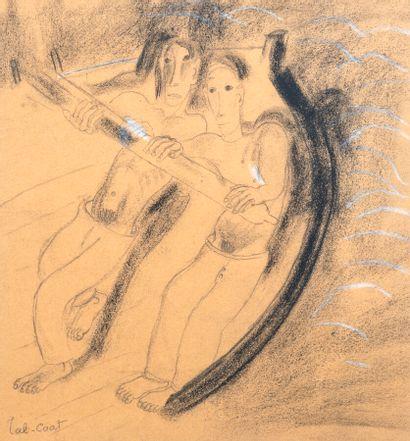 Pierre TAL COAT (1905-1985)  Les rameurs...
