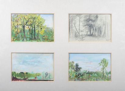 Pierre TAL COAT (1905-1985)  Les Paysages,1942...
