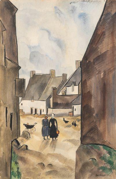 Louis Robert ANTRAL (1895-1939)  La cour...