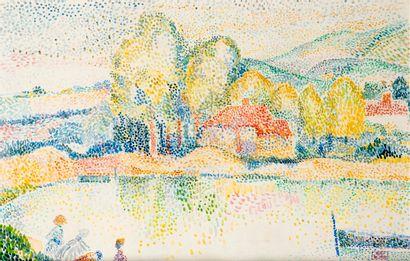 Hippolyte PETITJEAN (1854-1929)  Paysage...