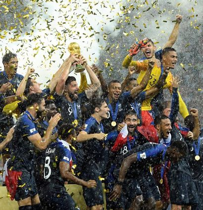 L'équipe de France championne du monde -...