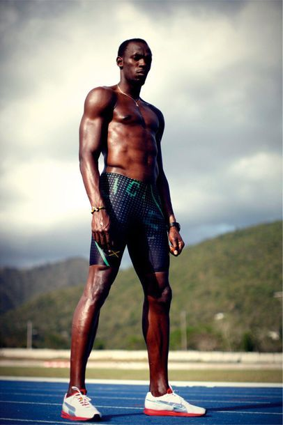 Usain Bolt à l'entraînement - 2012 © Franck...