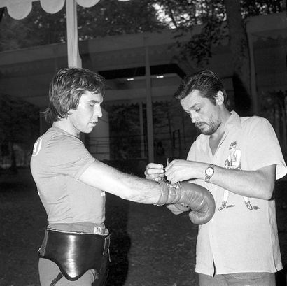 Jean-Claude Bouttier chez Alain Delon - 1973...