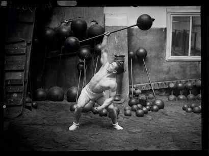 Ernest Cadine - Champion d'haltérophilie...