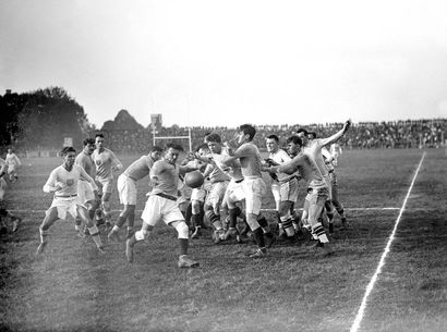 Rugby, France - États-Unis- 1920 © Collections...
