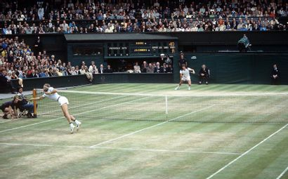 Finale Borg-Connors, Wimbledon - 1978 © L'Équipe...