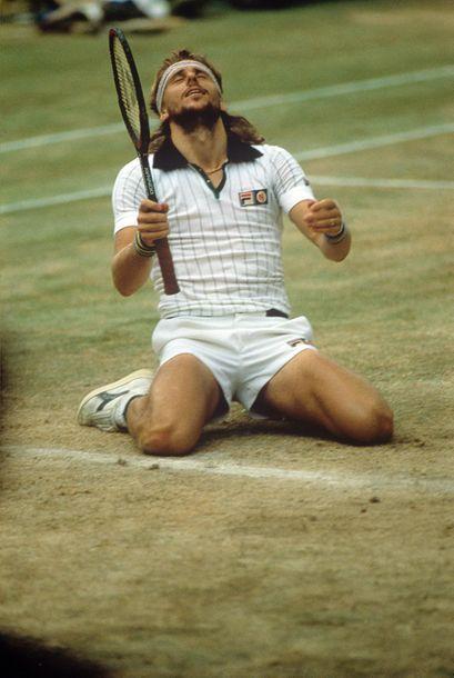 Borg - Wimbledon, 1980 © Jean-Marc Pochat/L'Équipe...