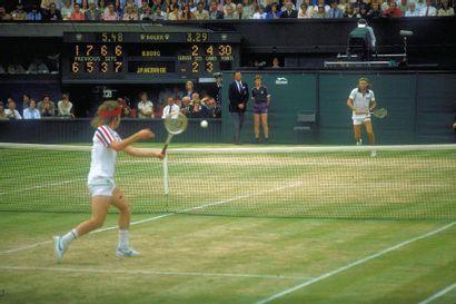 Finale Borg-McEnroe, Wimbledon - 1980 © L'Équipe...