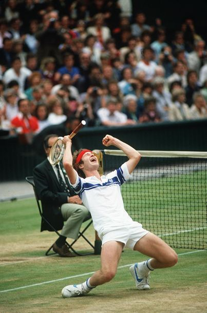 John McEnroe, Wimbledon - 1981 © Jean-Marc...