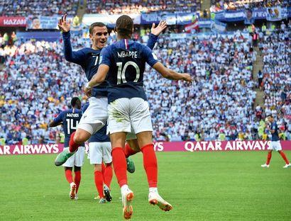 Antoine Griezmann, Kylian Mbappé, France-Argentine...