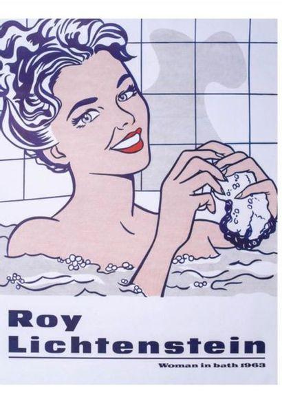 Roy LICHTENSTEIN (1923-1997) •Woman in bath, 1985 Sérigraphie sur vélin (d'apres...
