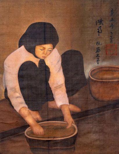 ECOLE VIETNAMIENNE DU XX SIECLE - d'après Phan Chanh NGUYEN (1892-1984)