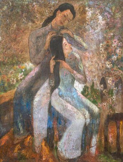 ECOLE VIETNAMIENNE DU XX SIECLE - dans le goût de Khoa Toan NGUYEN (1899-1965)
