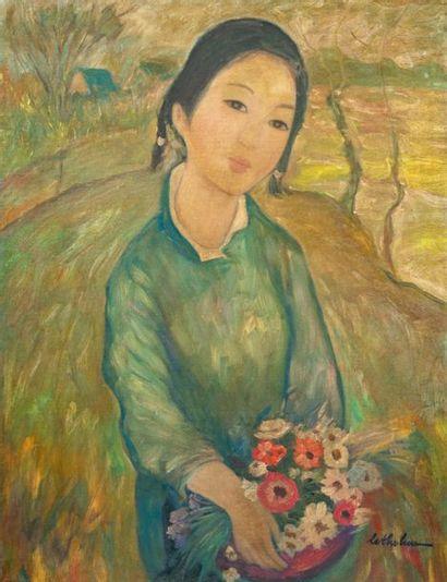 ECOLE VIETNAMIENNE DU XX SIECLE - dans le goût de Le Thi Luu (1911-1988)