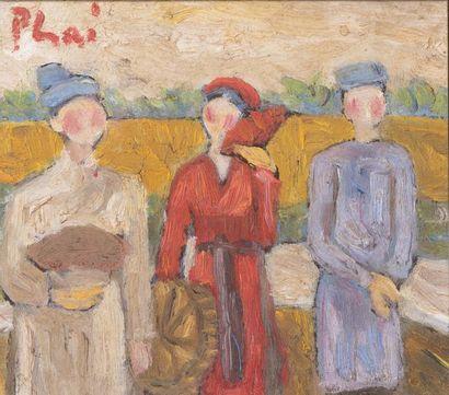 ECOLE VIETNAMIENNE DU XX SIECLE - dans le goût de Xuan Phai BUI (1920-1988)