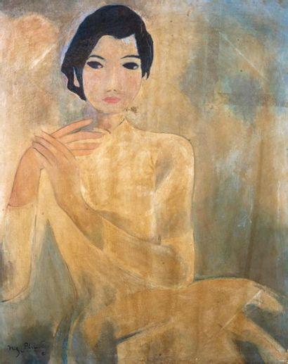 ECOLE VIETNAMIENNE DU XX SIECLE - dans le goût de Nguyen PHUOC (1943-)