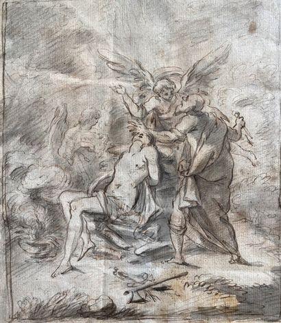 Ecole française fin XVIIème.Le sacrifice...