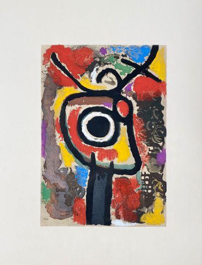 Miro (d'après) Composition abstraite. Lithographie....