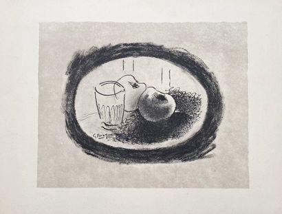 Braque . Nature Morte. Lithographie. 48x64...