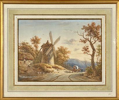 Victor DE GRAILLY (Paris, 1804 1889)  Chemin...