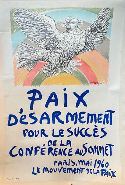 Pablo PICASSO (1881-1973)  Paix et Désarmement...