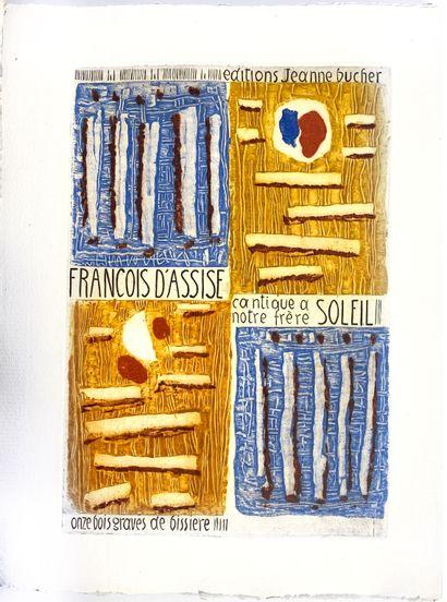 (Roger BISSIÈRE) (1886-1964)  François d'Assise,...