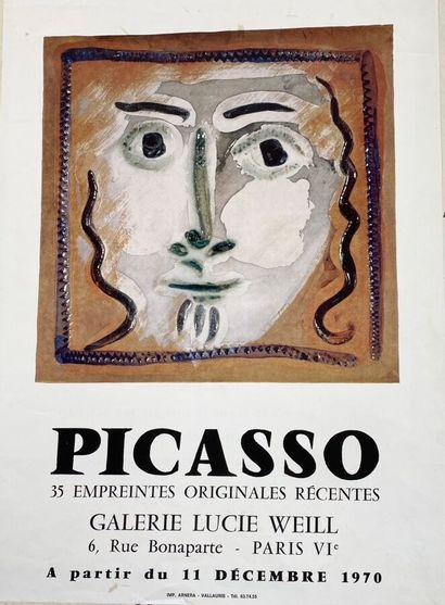 Pablo PICASSO (1881-1973)  Picasso 35 Empreintes...