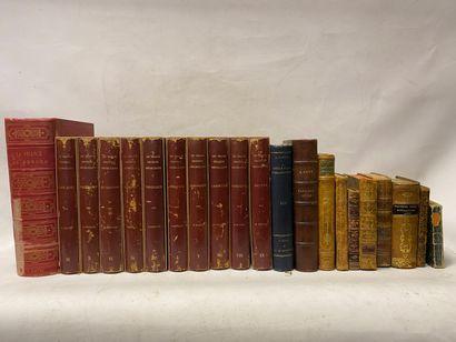 Lot de livres reliés, dont Grands Orateurs, Conte du Colibri, dont éditions anciennes