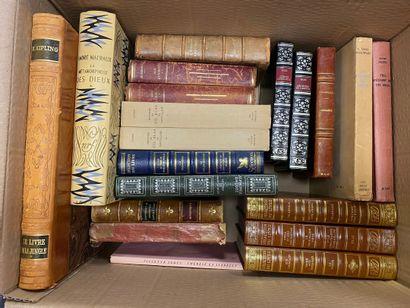 Lot de littérature, André Malraux, Sade, Kipling, Kessel, Hugo, Cervantes, Chateaubriand, François Villon, Anatole France et autres, une vingtaine de volumes