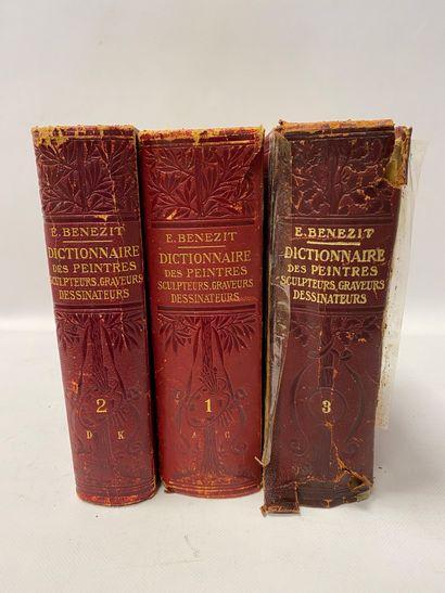 BENEZIT.  Edition de 1911, trois volumes (le dernier en état moyen).