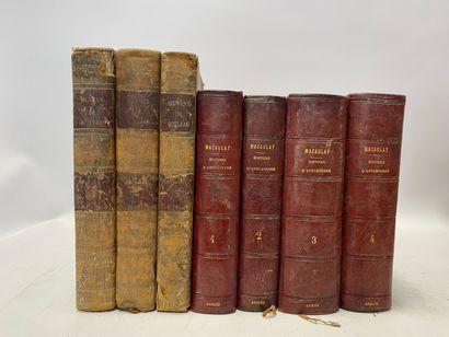 Rose MACAULAY, Histoire de l'Angleterre, 4 volumes, G. CHARPENTIER, Paris, et Oeuvres de Boileau, 3 volumes.