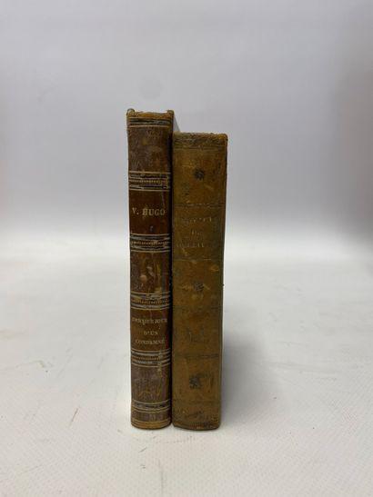 Deux volumes in-12, le Voyage de Gulliver de Jonathan Swift et le Dernier Jour d'un Condamné de Victor Hugo.