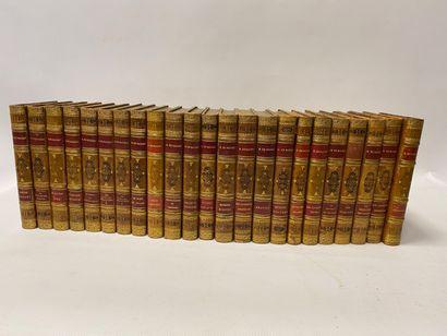 Honoré de BALZAC, 23 volumes reliés in-8, essentiellement Eugénie Grandet, Colonel Chabert, etc.