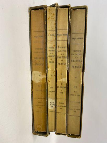 Histoire illustrée de la Gravure en France, 4 volumes dans leur cartonnage, éditions Sagot-Le Garrec.