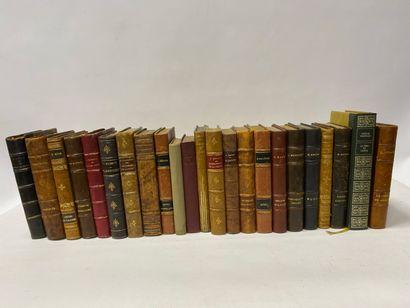 Lot de 25 volumes XIXème siècle, Chateaubriand, George Sand, Théophile Gautier, Alphonse Daudet, etc...